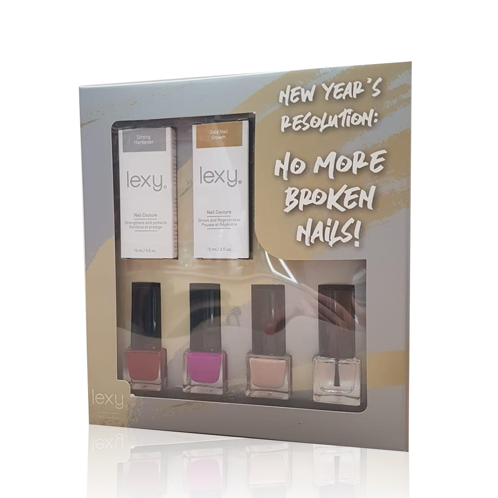 Lexy No More Broken Nails - Nail Polish & Nail Care Gift Set