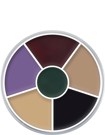 Kryolan Cream Color Circle 6 Colors - Art. 1306