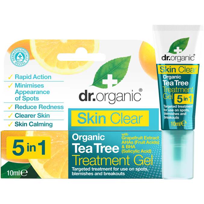Dr. Organic Tea Tree 5 in 1 Treatment Gel
