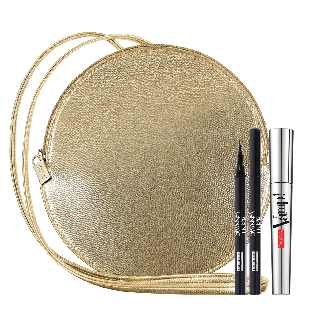 Pupa Milano Holiday 2019 Sets: Clutch Cricle Bag + Vamp! Mascara + Eyeliner