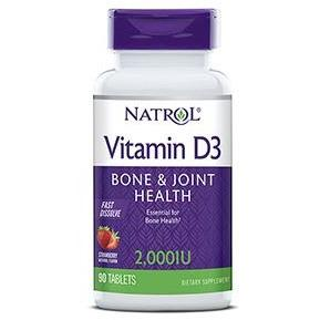 Natrol Vitamin D3 Fast Dissolve - Bone & Joint Health