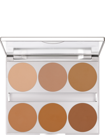 Kryolan Dual Finish Palette 6 colors - Art. 9126