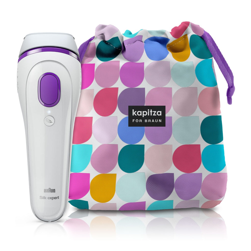 Braun Silk-expert 3 IPL BD 3006 – Permanent visible hair removal at home for body & face + Special edition bag by Kapitza