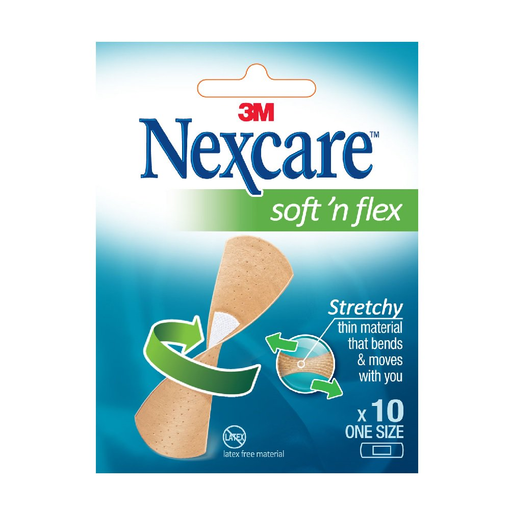 Nexcare Soft 'n' Flex Bandages - Box of 10