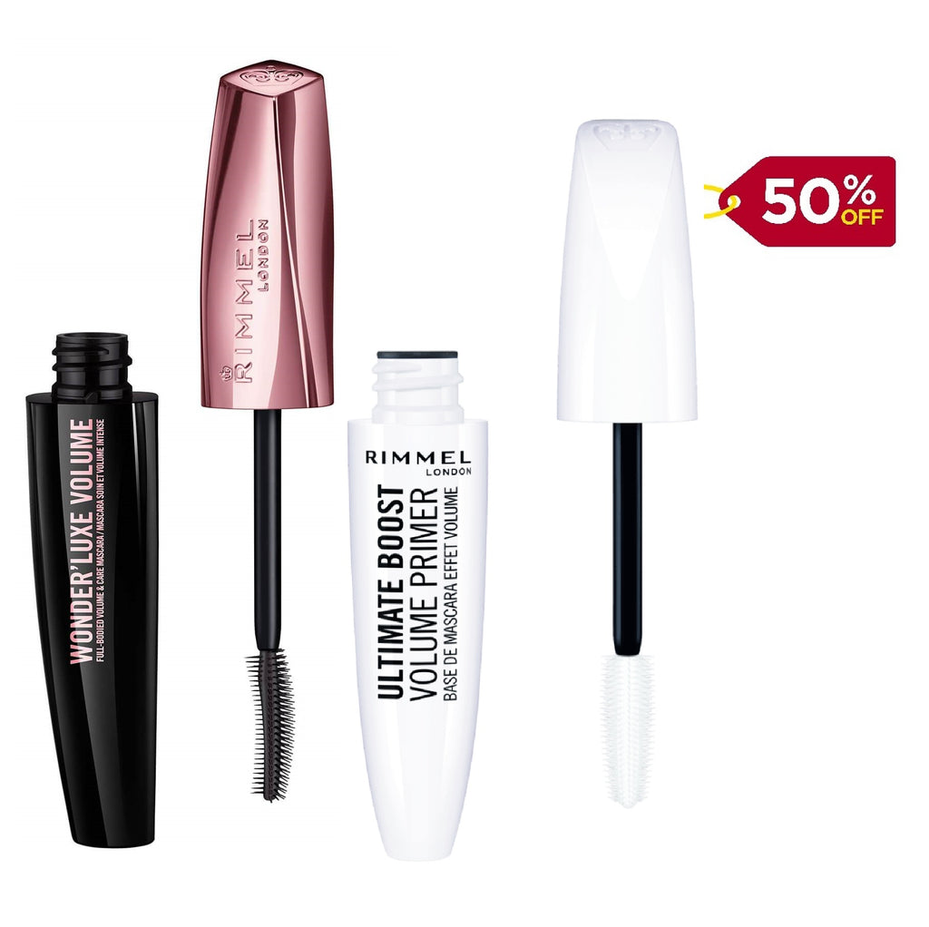Rimmel Luscious Lashes Offer -  Wonder'Luxe Volume Extreme Black+ 50% Off Mascara Primer