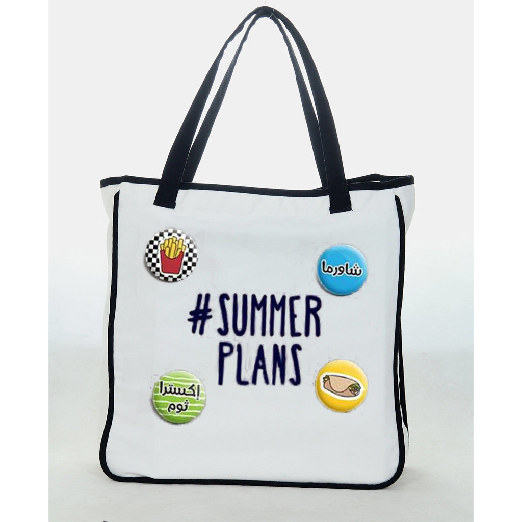 Reets Beach Bag: Hashtag Summer Plans with pins