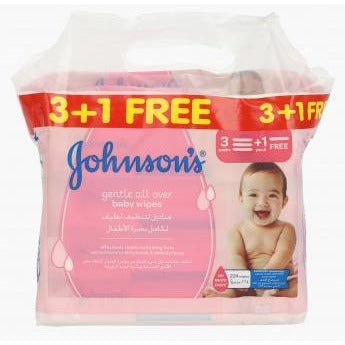 Johnson's Baby Baby Wipes Gentle Cleansing Buy 3 Get 1 Free