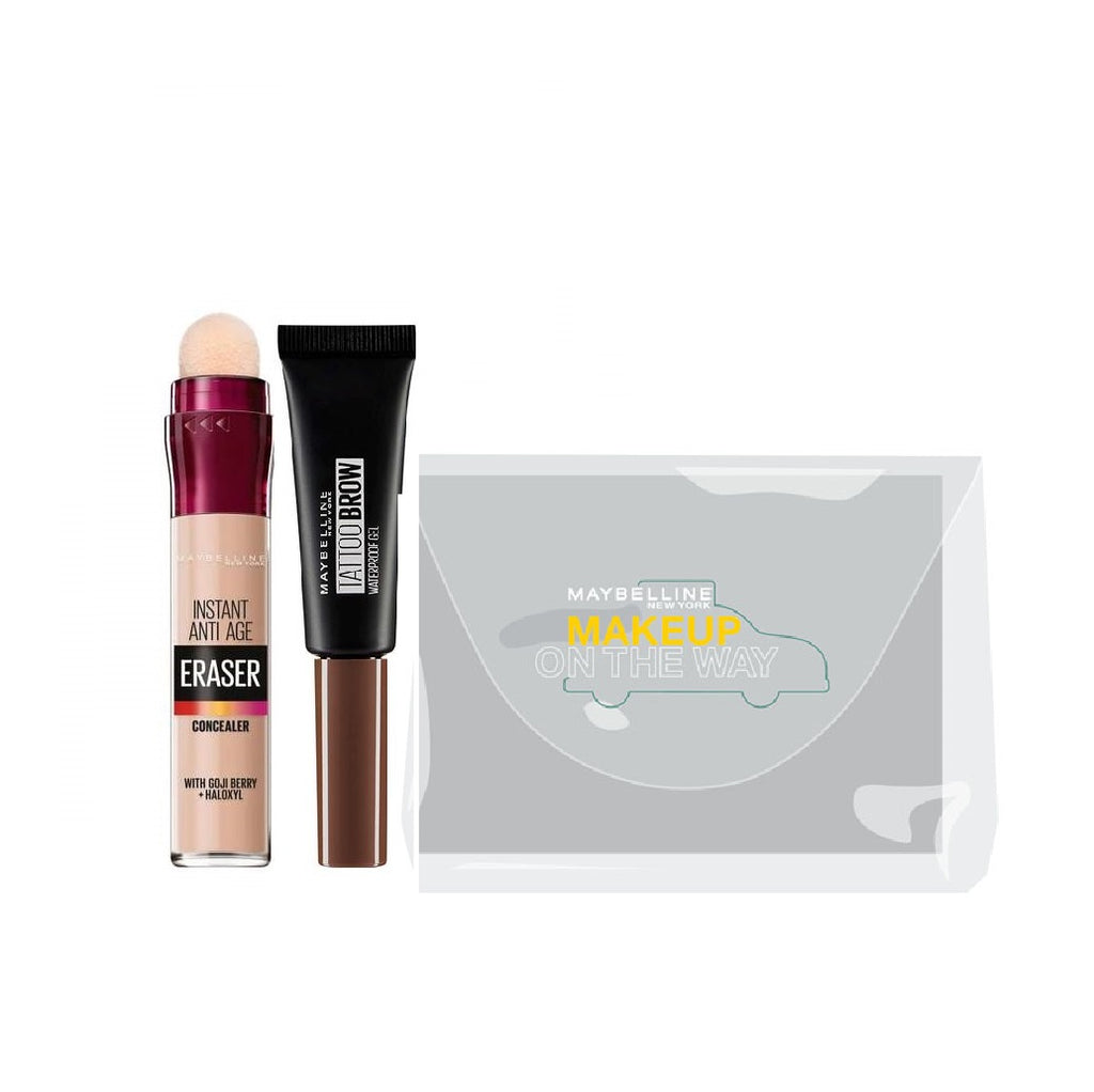 Maybelline My Tattoo Brow Gel + Instant Age Eraser 50% Off - Makeup On The Way Ep 2
