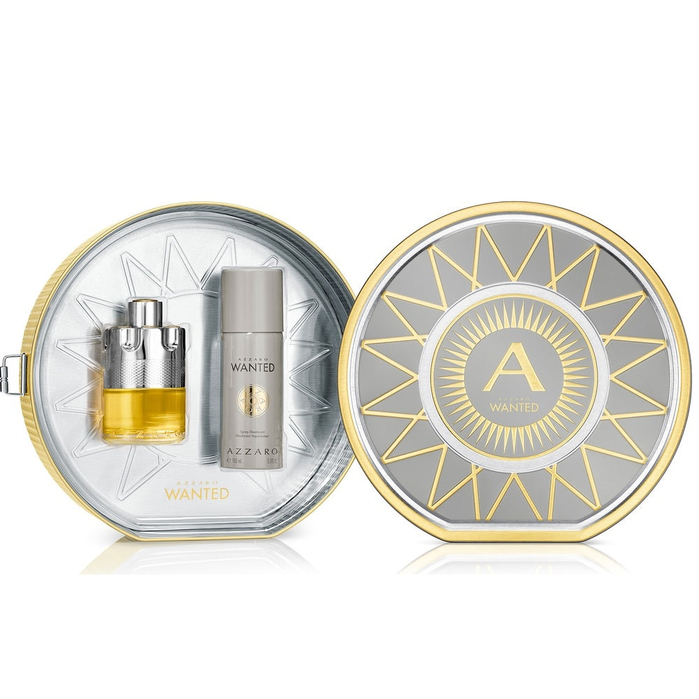 Azzaro Wanted Eau De Toilette Gift Set For Men
