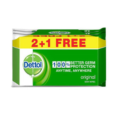 Dettol Skin Wipes 20'S Buy 2 Get 1 Free