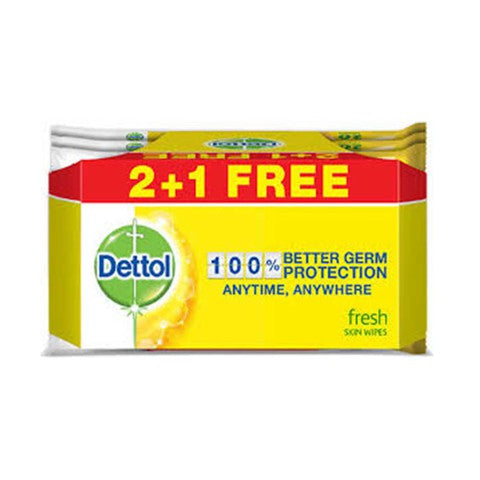 Dettol Skin Wipes 40'S Buy 2 Get 1 Free