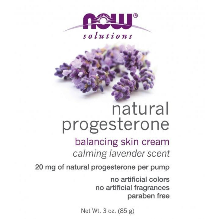 Now Natural Progesterone Skin Cream with Lavender
