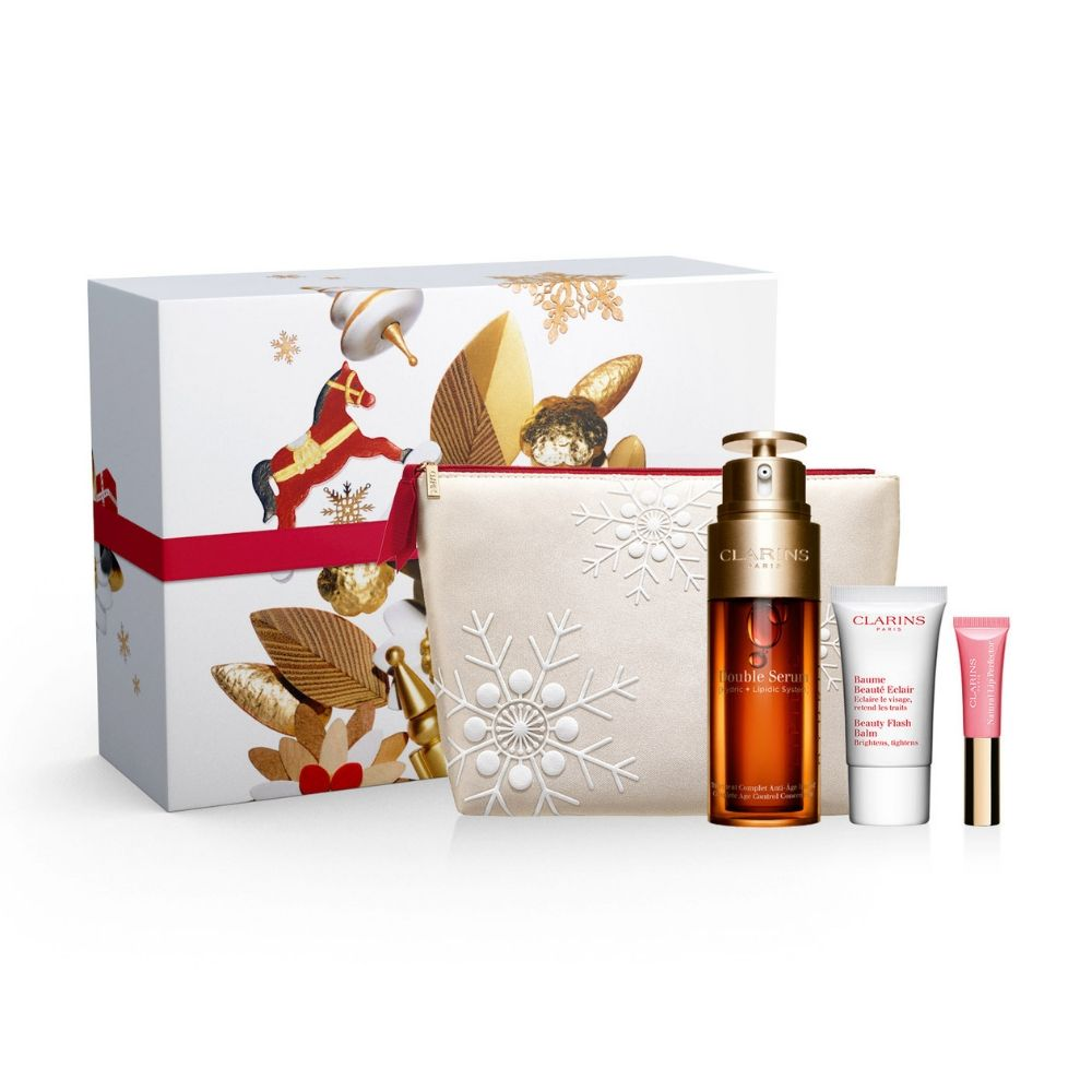 Clarins Double Serum Natural Looking Christmas Gift Set