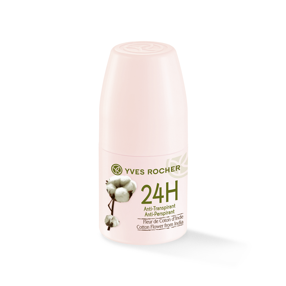 Yves Rocher Roll-on 24h Anti Perspirant - Cotton Flower from India
