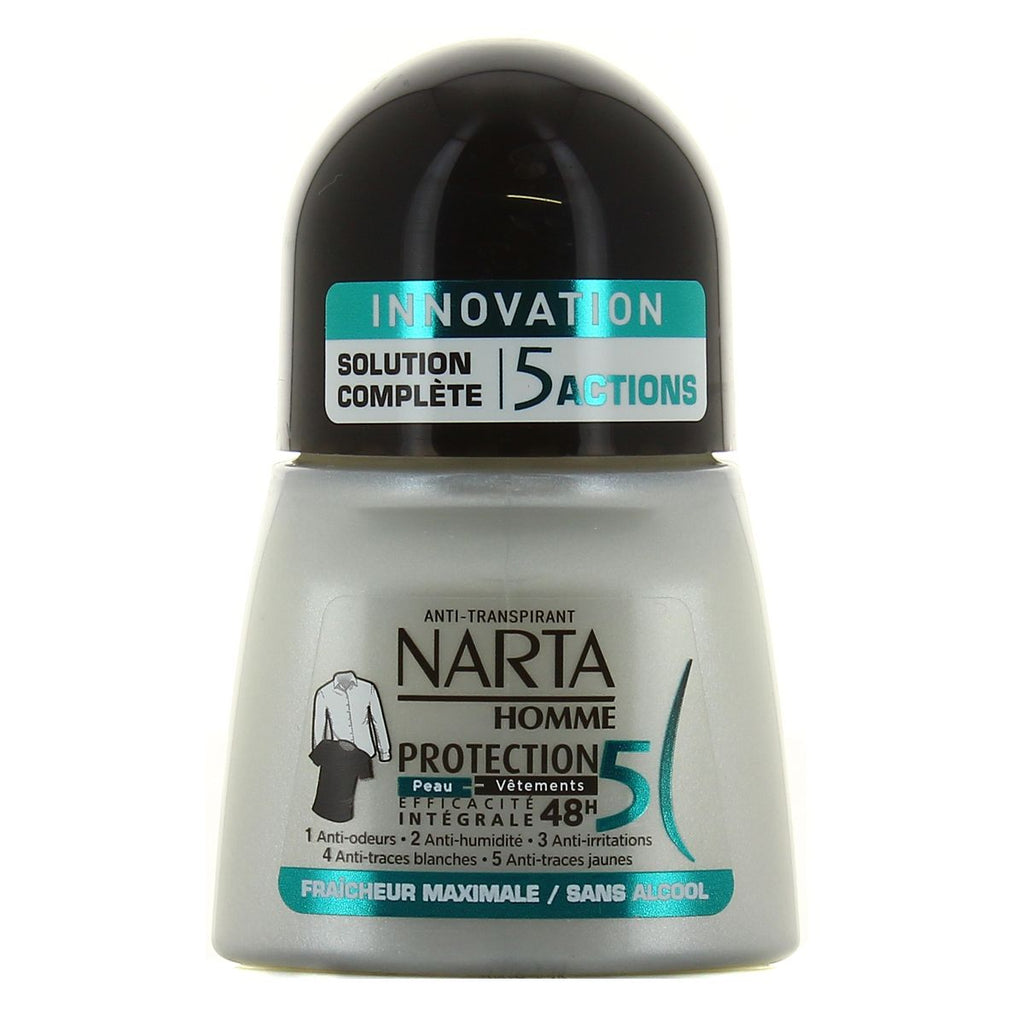 Narta Men Deodorant Roll On Anti-Transpirant Protection 5 Homme 48H
