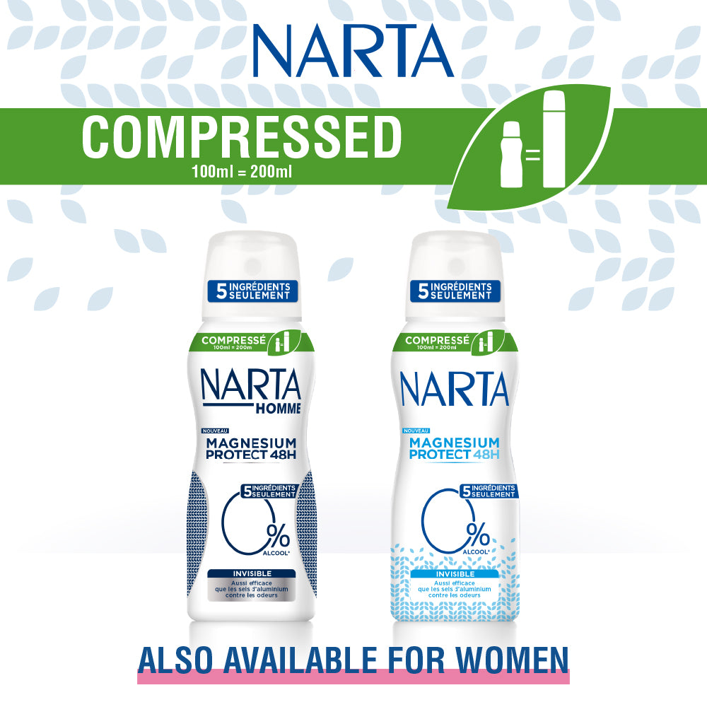Narta Men Magnesium Protect 48h Compressed Invisible Spray Deodorant