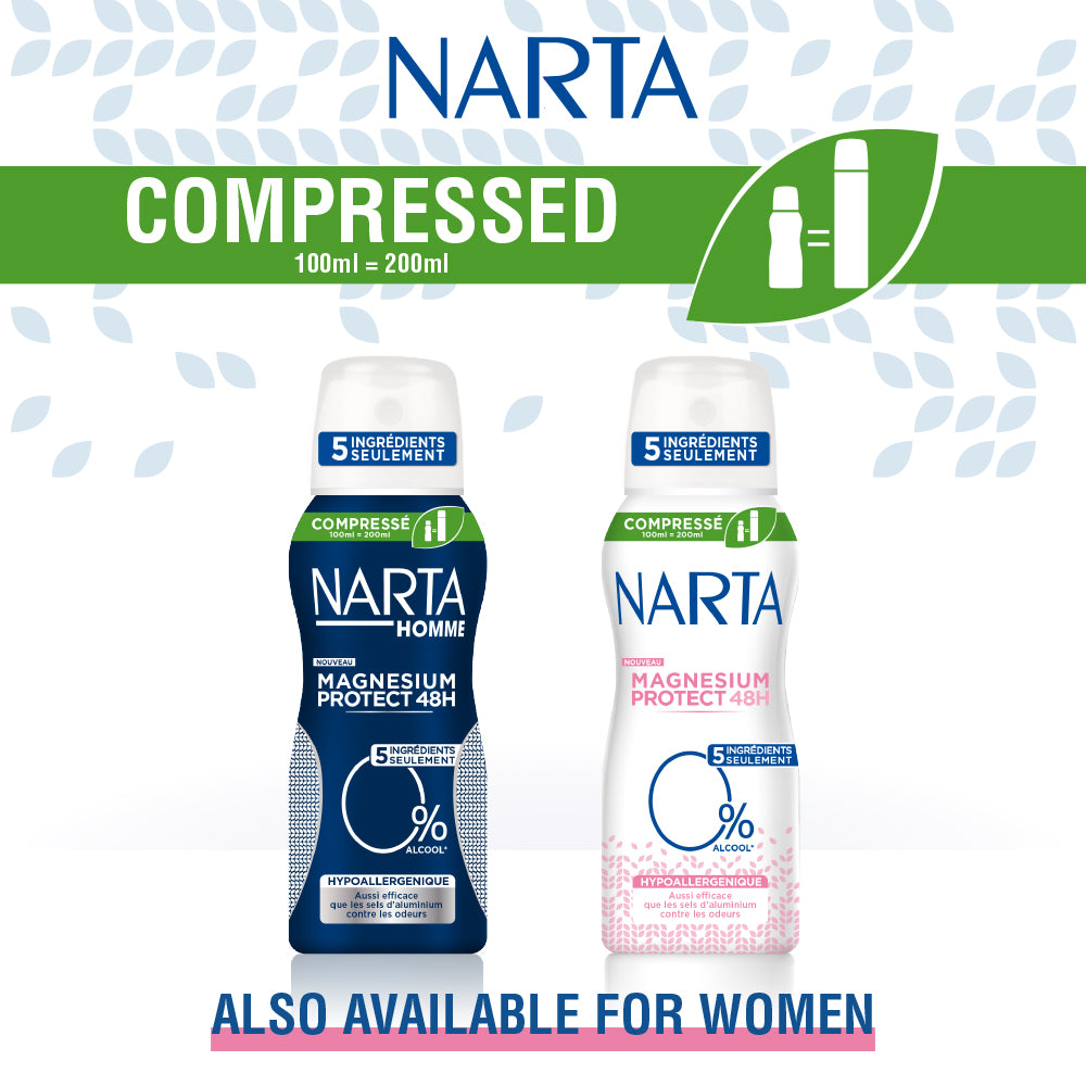Narta Men Magnesium Protect 48h Compressed Hypoallergenique Spray Deodorant