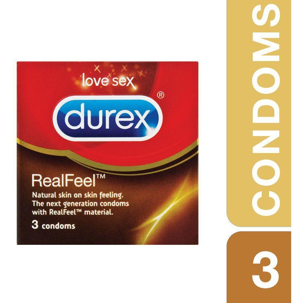 Durex RealFeel Condoms - Pack of 3 or 10