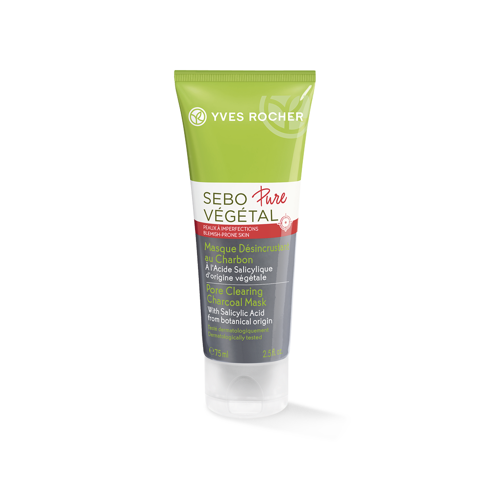 Yves Rocher Sebo Pure Vegetal Pore Clearing Charcoal Mask 75ml