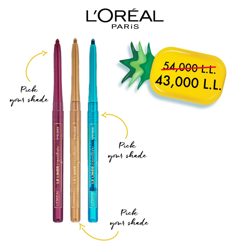 L'Oreal Paris Exclusive Offer: Le Liner Signature Waterproof Eyeliner 3 at 20% Off!