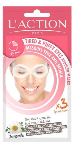 L'Action Paris Tired and Puffy Eyes Reducer Masks - Contains 3