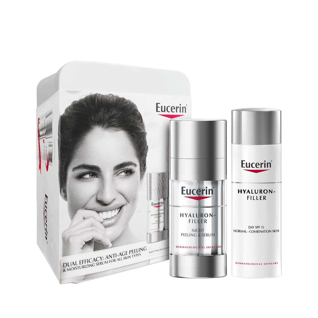 Eucerin Dual Efficacy Set : Anti-Aging Peeling & Moisturizing Serum