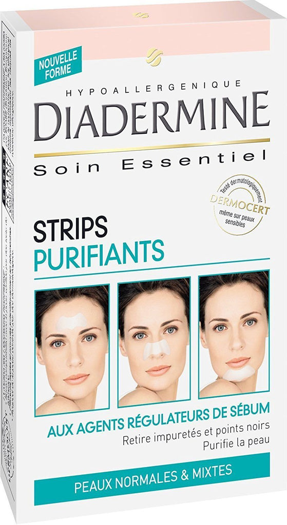 Diadermine Purifying  Nose Strips for Black Heads x6