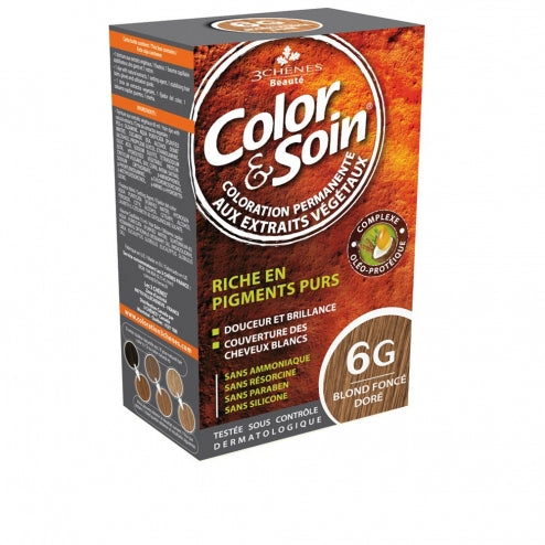 Color & Soin Permanent Hair Coloration + Free Dark Colored Shampoo