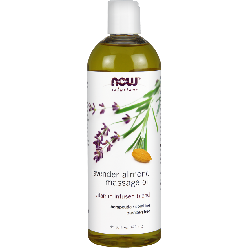 Now Lavender Almond Massage Oil 473ml
