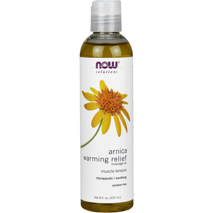 Now Arnica Warming Relief Massage Oil 250ml