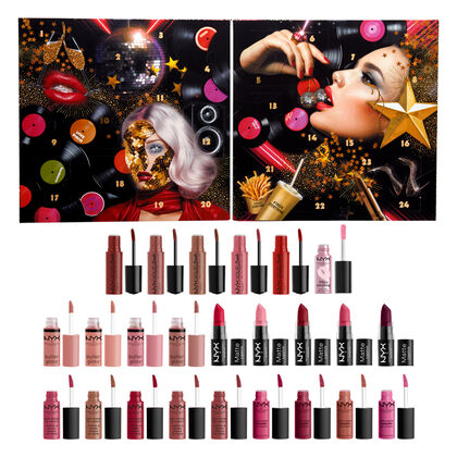 NYX Professional Makeup Love Lust Disco Greatest Hits Lip Advent Calendar (24 Lip Products)