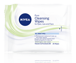 Nivea Daily Essentials Pure Cleansing Wipes x25