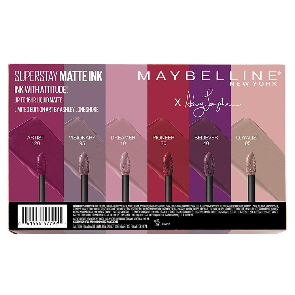Maybelline Superstay Matte Ink x Ashley Longshore Limited Edition Collection