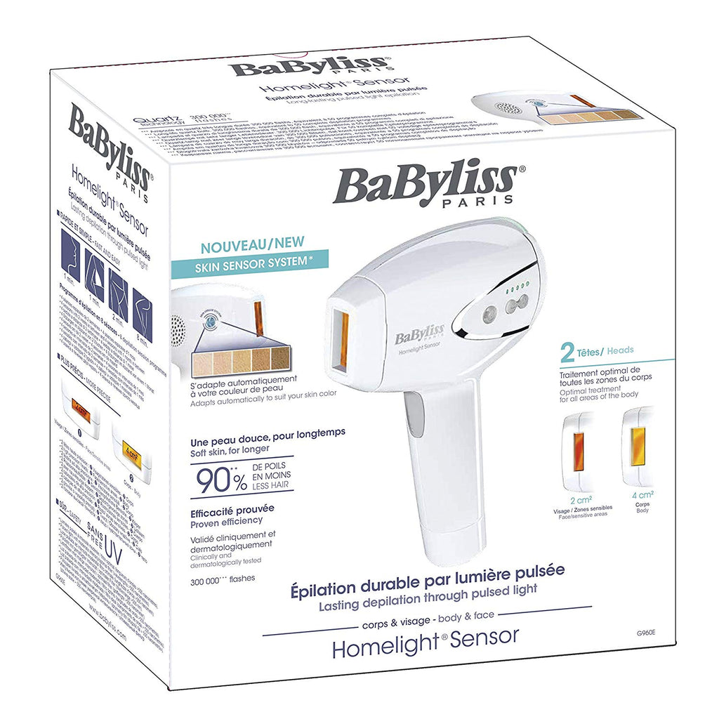 Babyliss G960E Pulse Light Epilator IPL Homelight Sensor