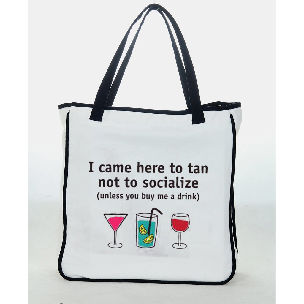 "Reets Beach Bag: ""I came here to tan"""