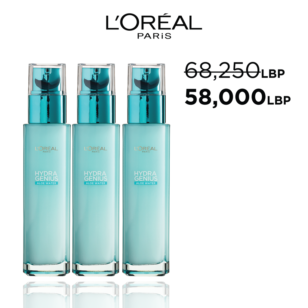 L'Oreal Paris Back to School Offer: Buy 3 Hydragenius for 15% Off