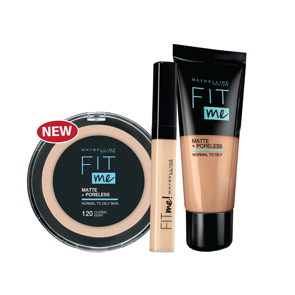 Maybelline Fit Me Bundle: Concealer, Foundation & Powder 15% Off