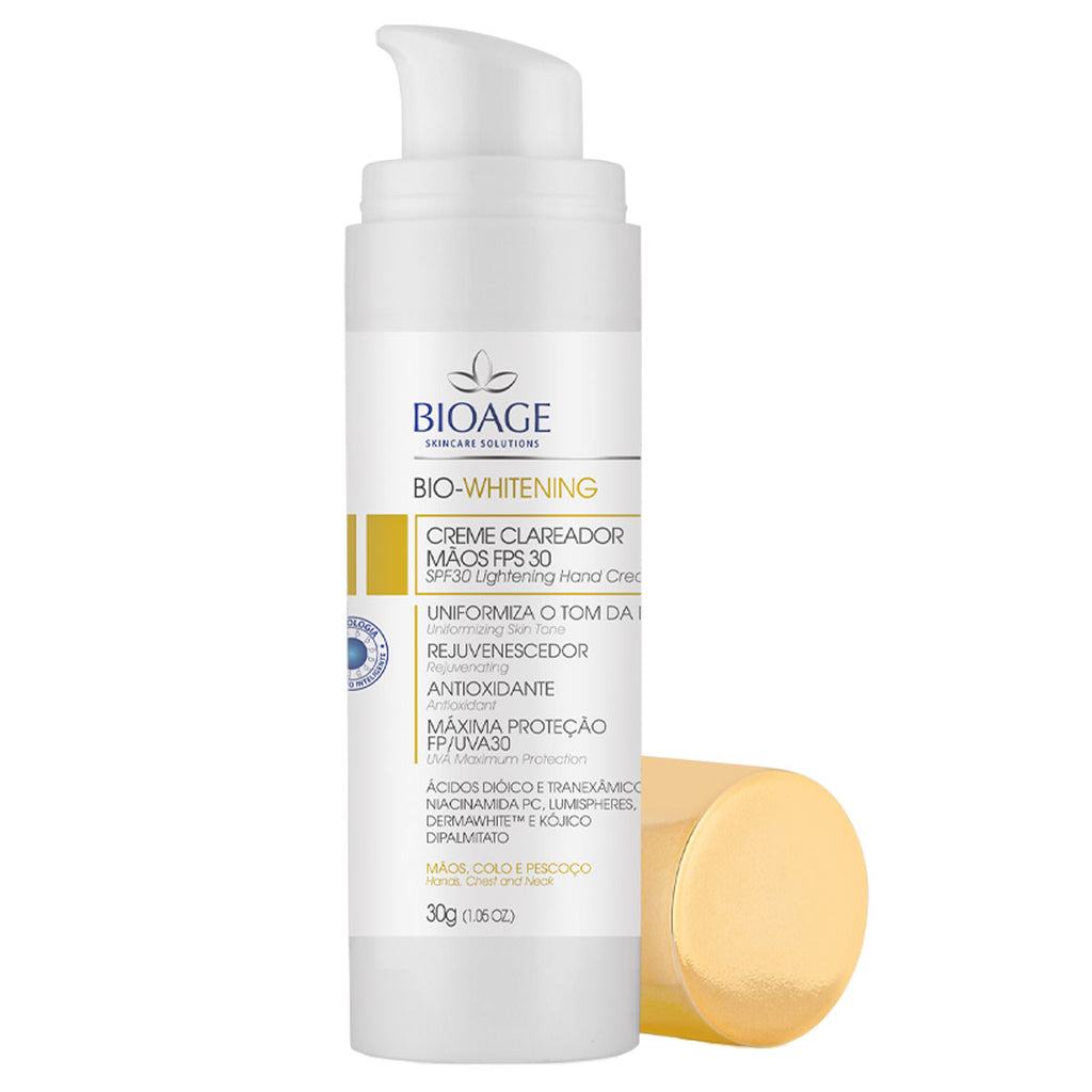 Bioage Bio-Whitening Lightening Cream For Hands SPF30 - 30g
