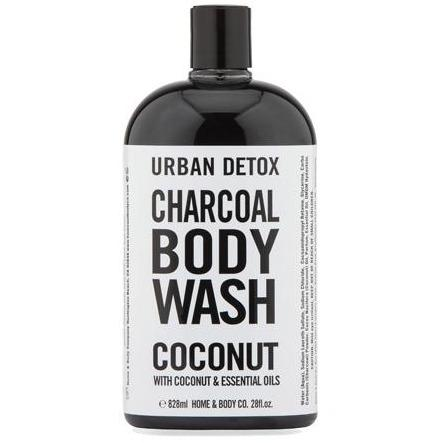 Home & Body Urban Detox Charcoal Body Wash with Coconut & Essential Oils - 828ml