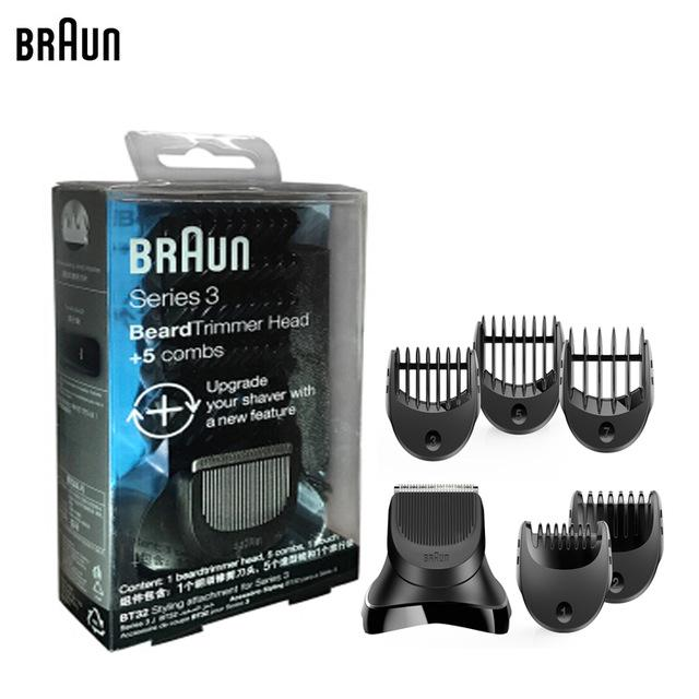 Braun Accessories BT32 : Shave & Style Trimmer Head + 5 Comb Set