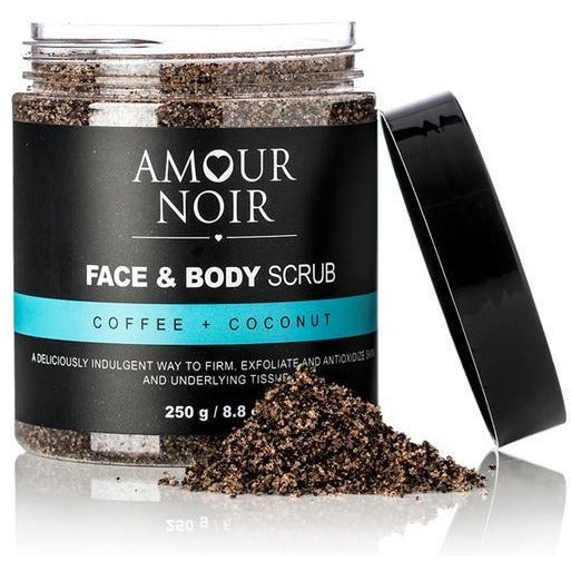 Amour Noir Face & Body Scrub - Coffee + Coconut
