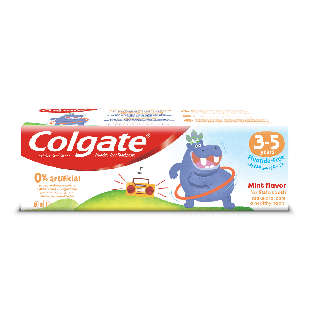 Colgate 0% Artificial Kids Toothpaste 3-5 years - Fluoride Free
