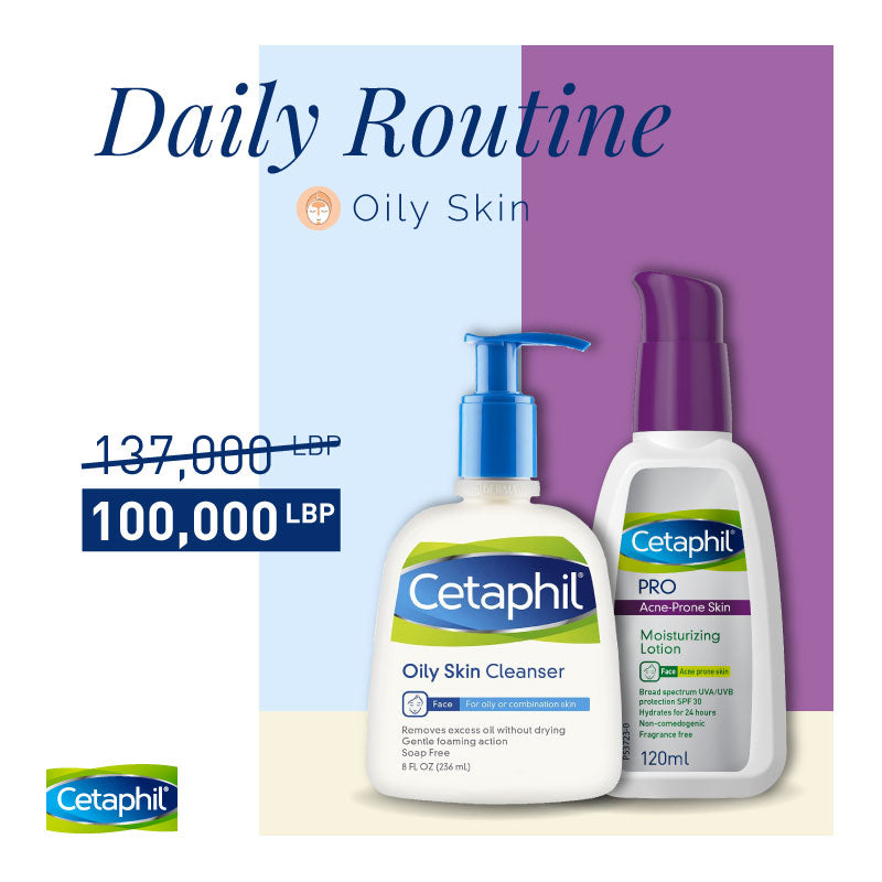 Cetaphil All in One Day Routine Bundle For Oily Skin 27% Off