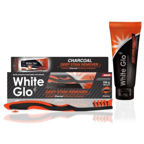 White Glo Activated Charcoal Whitening Toothpaste - Deep Stain Remover