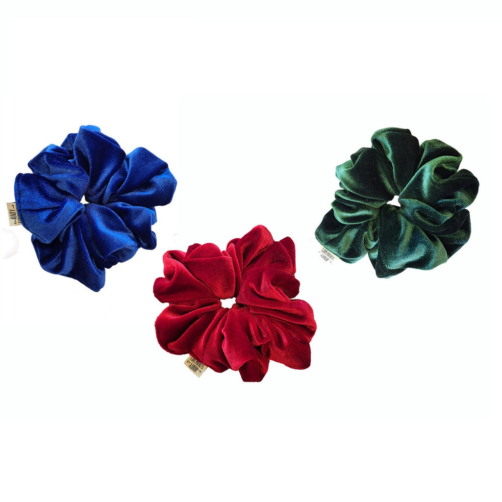 Aunty Scrunchies The Christmas Bundle - Handmade Velvet Scrunchies 10% Off!