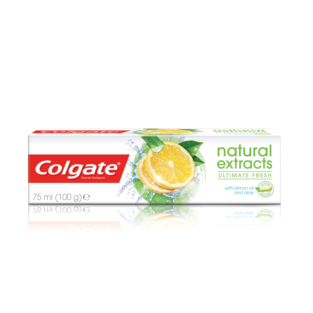 Colgate Natural Extracts Ultimate Fresh With Lemon Oil & Aloe Toothpaste