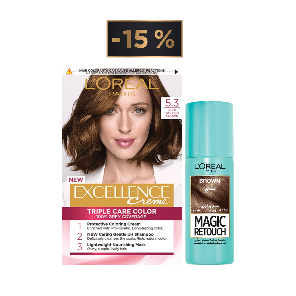 L'Oreal Paris Magic Retouch Offer: Retouch Spray + Excellence Hair Coloration 15% Off