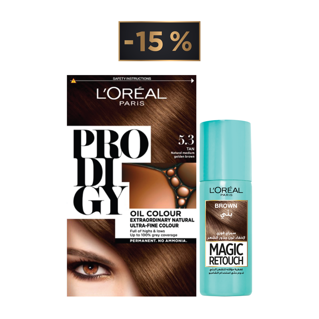 L'Oreal Paris Magic Retouch Offer: Retouch Spray + Prodigy Hair Coloration 15% Off