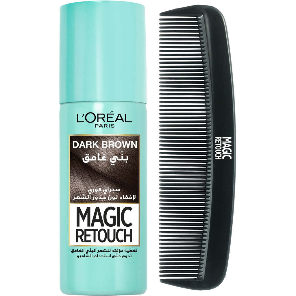 L'Oreal Paris Magic Retouch Hair Roots Concealer Spray + Free Hair Comb (5 Colors Available)