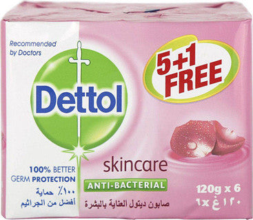 Dettol Anti-Bacterial Soap Bar 120g - Buy 5 Get 1 Free